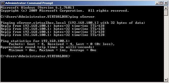 Ping vServer from vPc