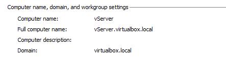 vServer Domain Name